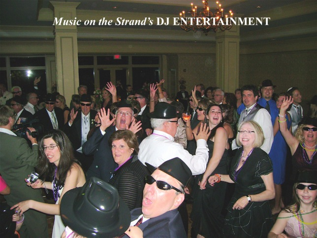 DJs in Myrtle Beach distribute party props to wedding guests which serve to enhance the fun on the dance floor.